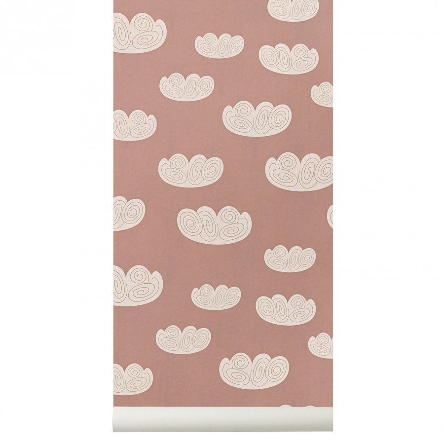 Ferm Living Cloud Wallpaper Rose Tapetti