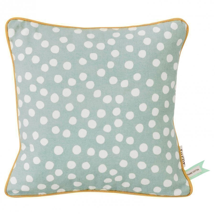 Ferm Living Dots Cushion Dusty Blue Koristetyyny
