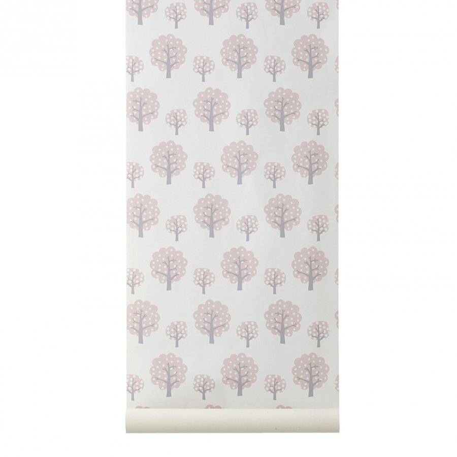 Ferm Living Dotty Wallpaper Rose Tapetti