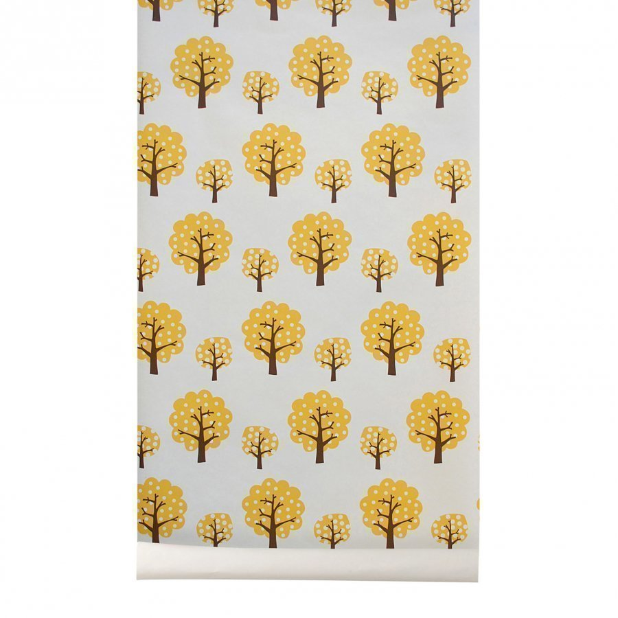 Ferm Living Dotty Wallpaper Yellow Tapetti