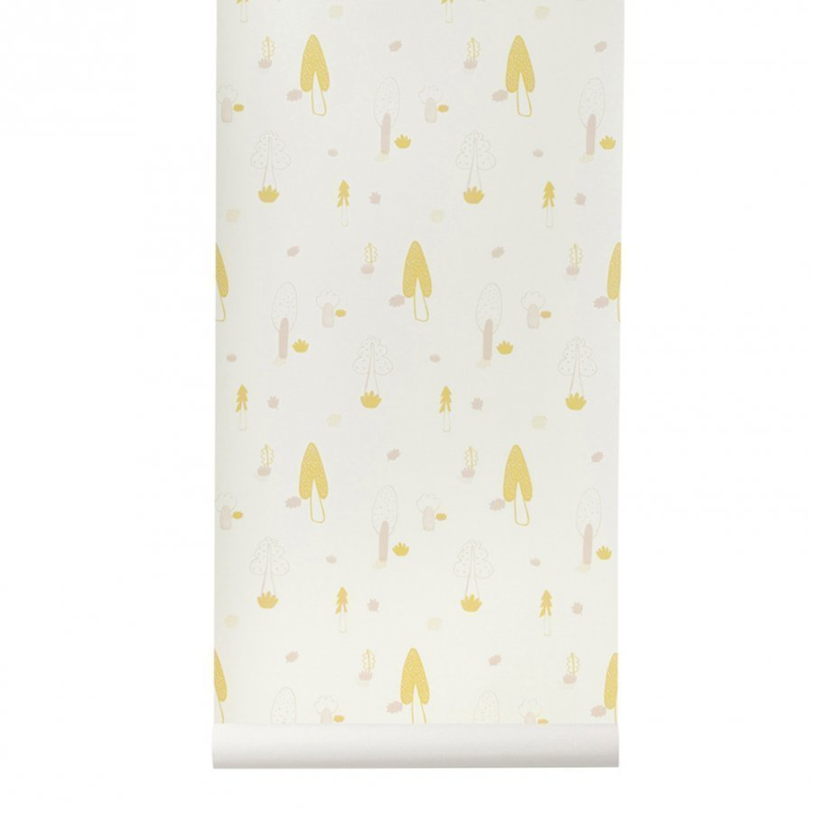 Ferm Living Forest Wallpaper Rose Tapetti