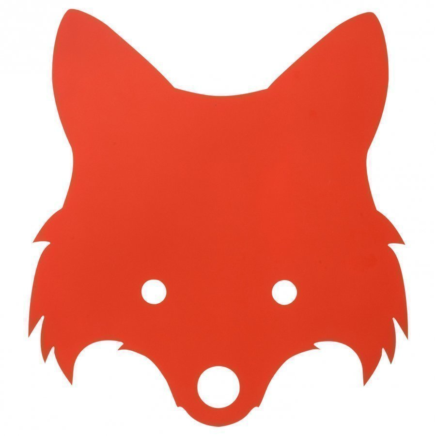 Ferm Living Fox Lamp Red Orange Seinävalaisin