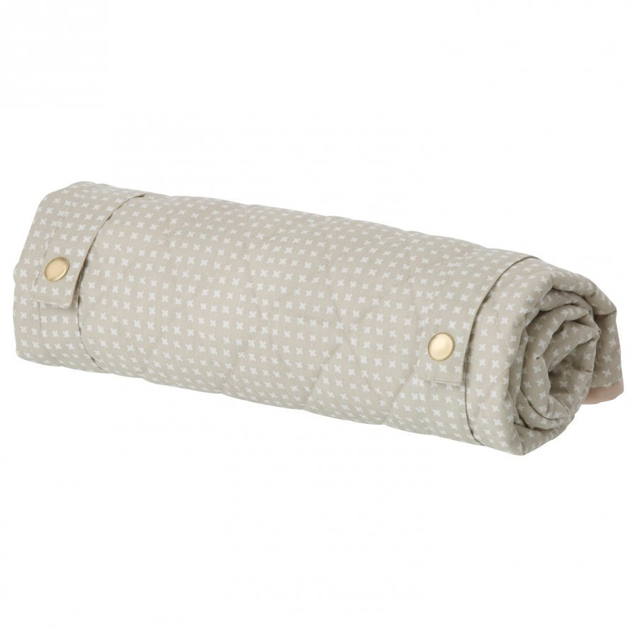 Ferm Living Grey Cross Changing Blanket Hoitoalusta