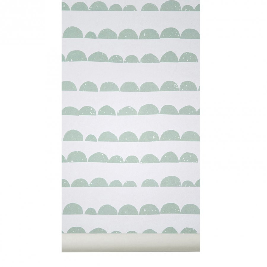 Ferm Living Half Moon Wallpaper Mint Tapetti
