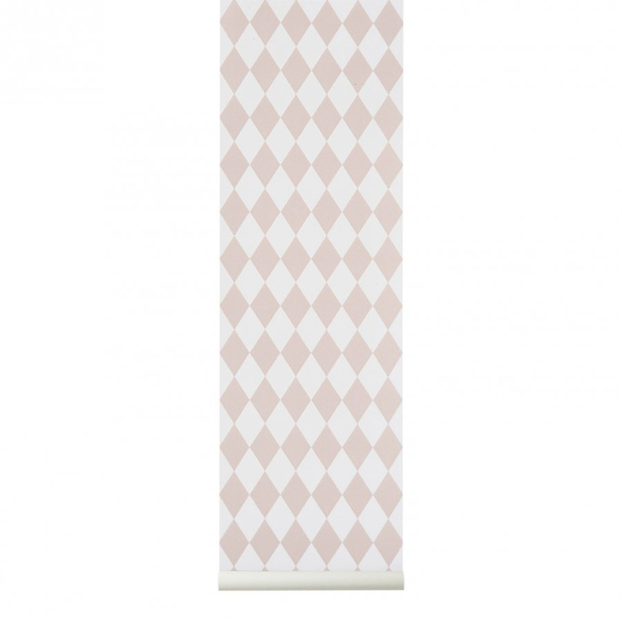 Ferm Living Harlequin Wallpaper Grey Tapetti