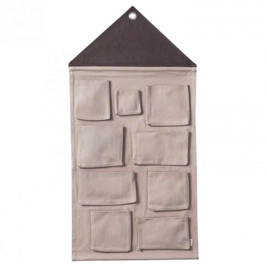 Ferm Living House Wall Storage Grey Seinäsäilytys