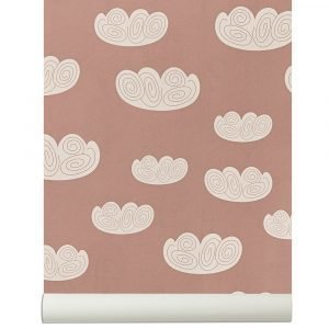 Ferm Living Kids Cloud Tapetti Vaaleanpunainen