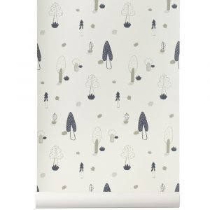 Ferm Living Kids Forest Tapetti Sininen