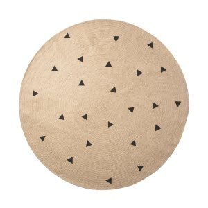 Ferm Living Kids Jute Matto Black Triangles 130 Cm