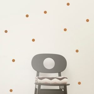 Ferm Living Kids Mini Dots Wallsticker Seinätarra Kupari