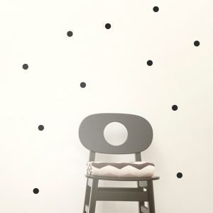 Ferm Living Kids Mini Dots Wallsticker Seinätarra Musta