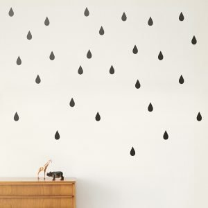 Ferm Living Kids Mini Drops Wallsticker Seinätarra Musta