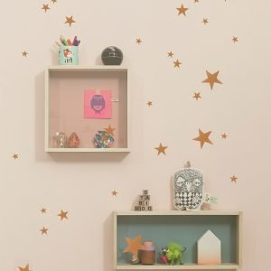 Ferm Living Kids Mini Stars Wallsticker Seinätarra Kupari