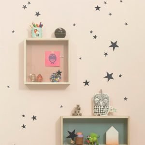 Ferm Living Kids Mini Stars Wallsticker Seinätarra Musta