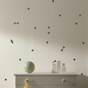 Ferm Living Kids Mini Triangles Wallsticker Seinätarra Musta