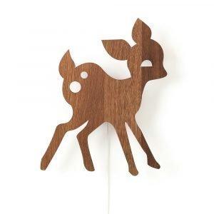 Ferm Living Kids My Deer Seinävalaisin Savustettu Tammi