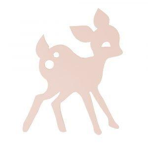 Ferm Living Kids My Deer Seinävalaisin Vaaleanpunainen
