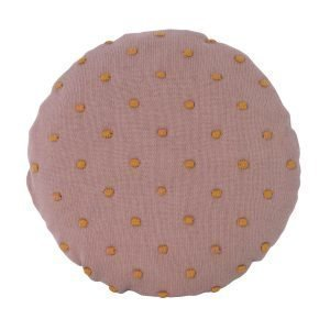 Ferm Living Kids Popcorn Pyöreä Tyyny Vaaleanpunainen