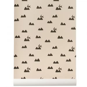 Ferm Living Kids Rabbit Tapetti Vaaleanpunainen