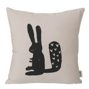 Ferm Living Kids Rabbit Tyyny Harmaa 30x30 Cm