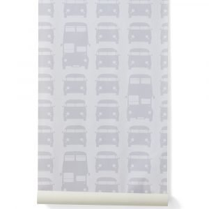 Ferm Living Kids Rush Hour Tapetti Harmaa