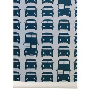 Ferm Living Kids Rush Hour Tapetti Sininen