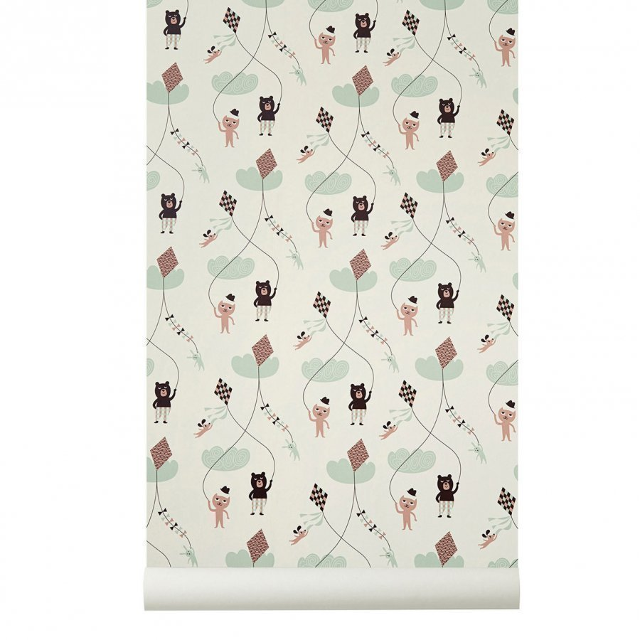 Ferm Living Kite Wallpaper Rose Tapetti
