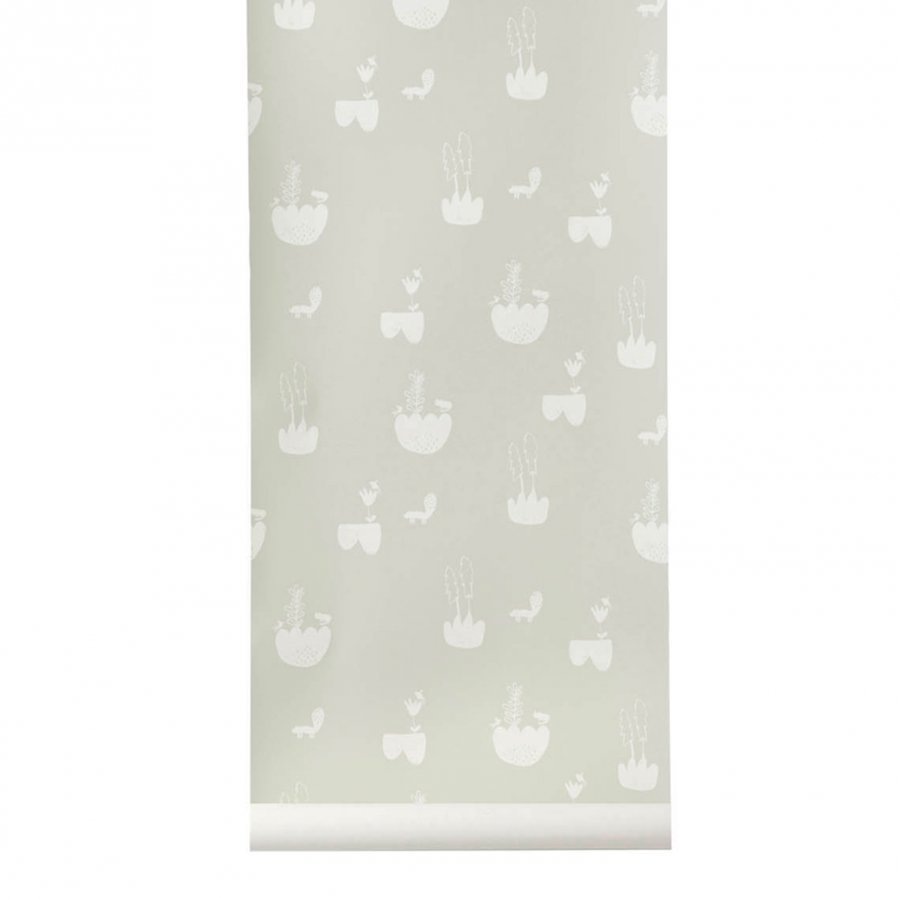 Ferm Living Landscape Wallpaper Grey Tapetti