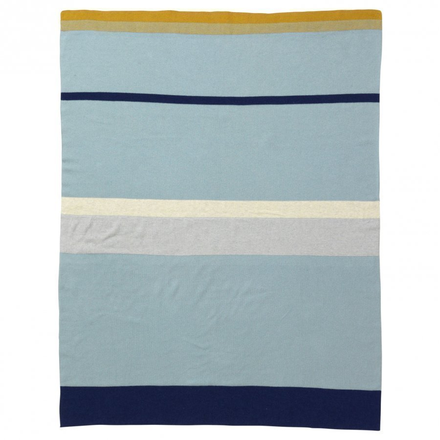 Ferm Living Little Stripy Blanket Blue Huopa