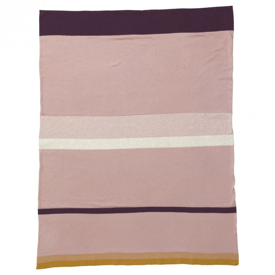 Ferm Living Little Stripy Blanket Rose Huopa