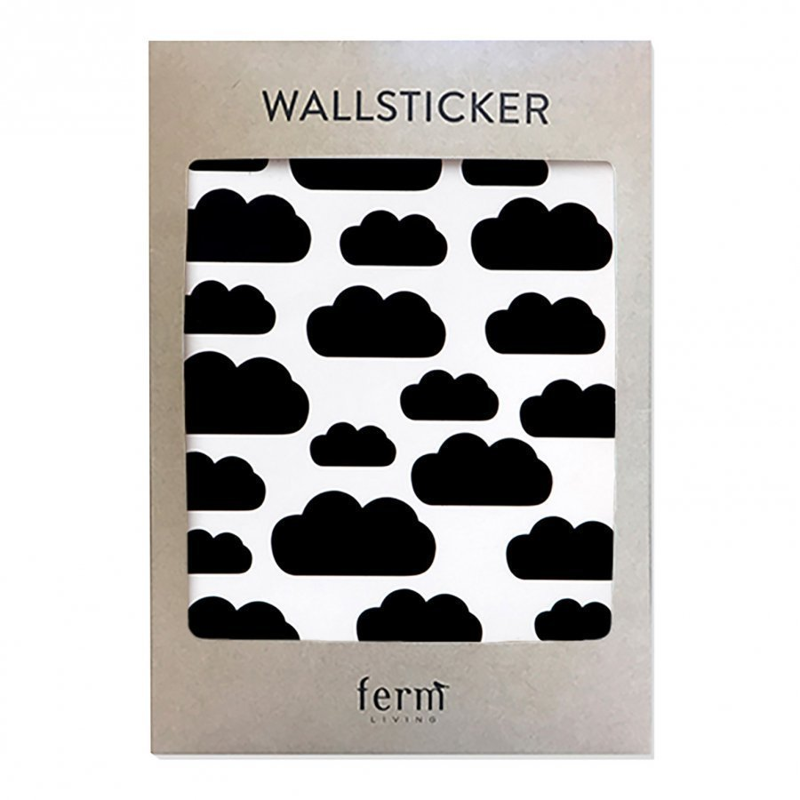 Ferm Living Mini Clouds Wallsticker Black Seinätarra