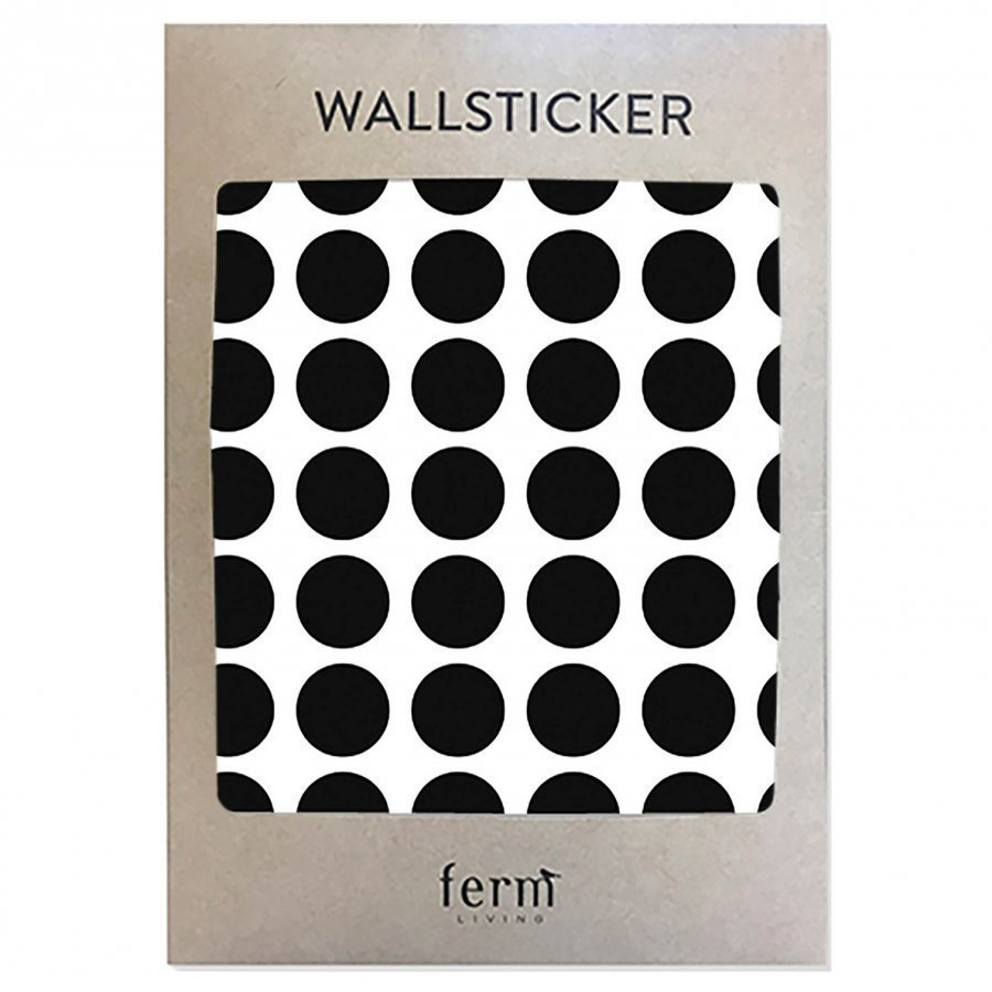 Ferm Living Mini Dots Wallsticker Black Seinätarra