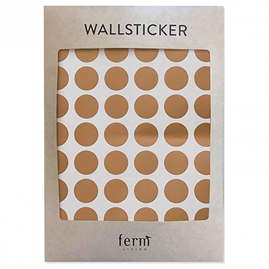 Ferm Living Mini Dots Wallsticker Copper Seinätarra