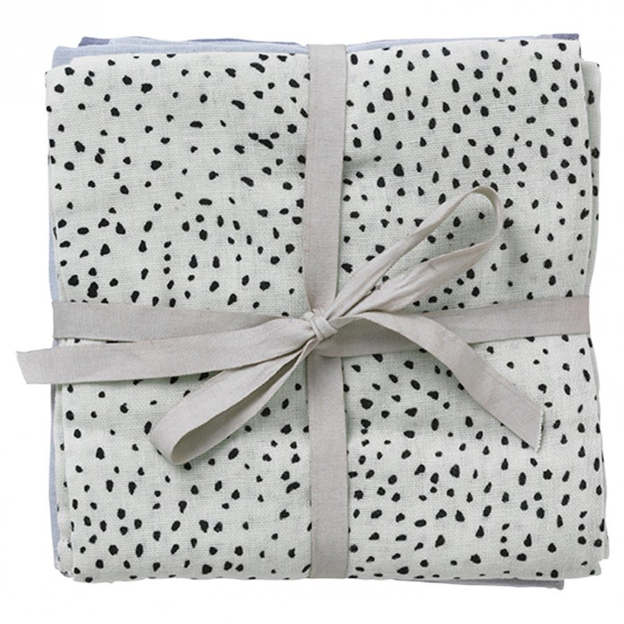 Ferm Living Muslin Diapers Mint Dot Set Of 3 Huopa