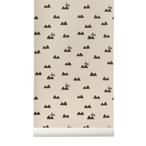 Ferm Living Rabbit Tapetti Rose Vaaleanpunainen
