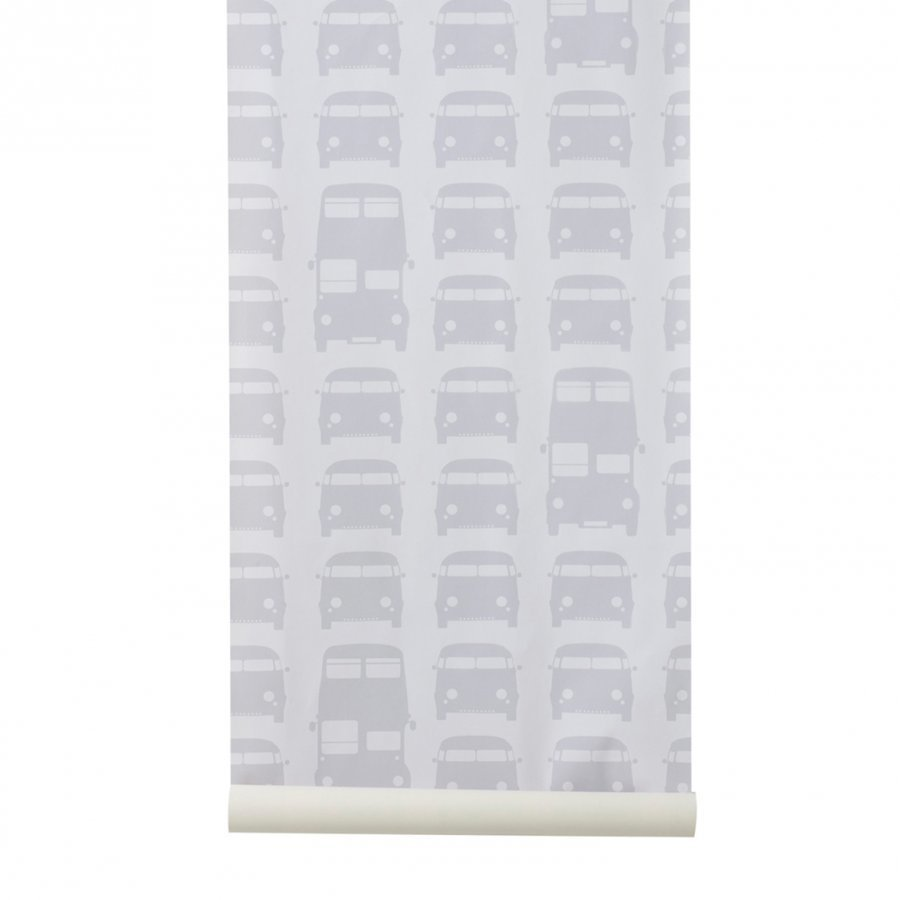 Ferm Living Rush Hour Wallpaper Grey Tapetti