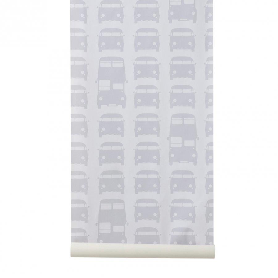 Ferm Living Rush Hour Wallpaper Grey Tapetti