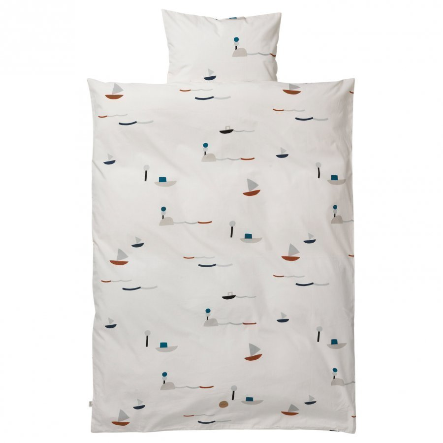 Ferm Living Seaside Bedding Baby Set Pussilakanasetti