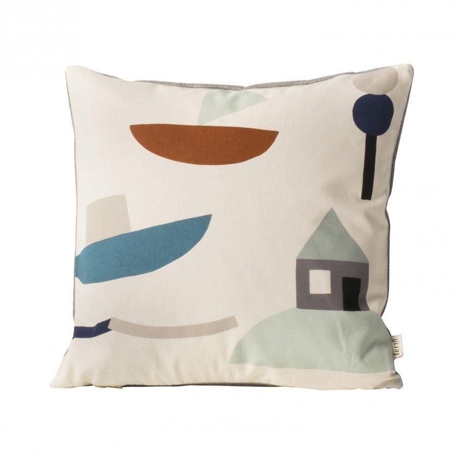 Ferm Living Seaside Cushion Off-White Tyyny