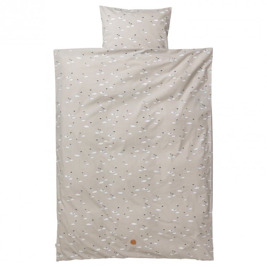 Ferm Living Swan Bedding Grey Baby Set Pussilakanasetti