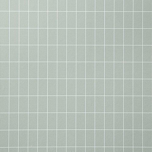 Ferm Living Tapetti Grid Vihreä/valkoinen
