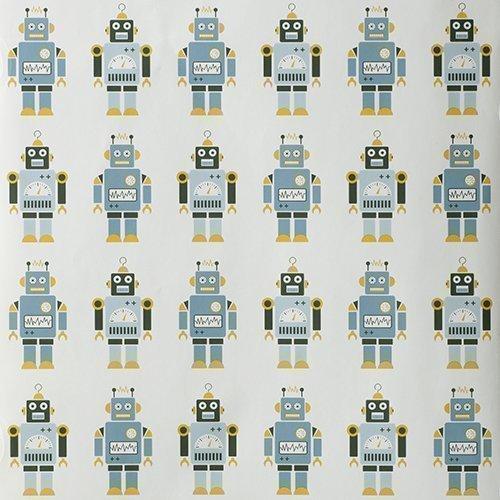 Ferm Living Tapetti Robots Sininen/keltainen