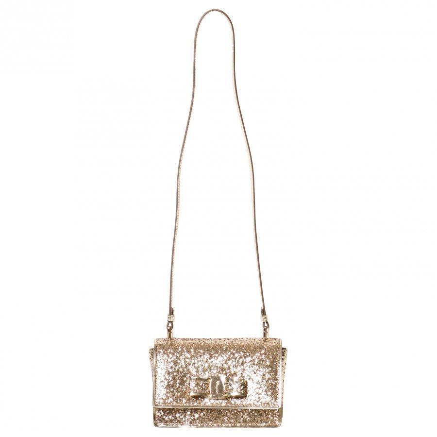 Ferragamo Gold Glitter Ginny Bag Käsilaukku