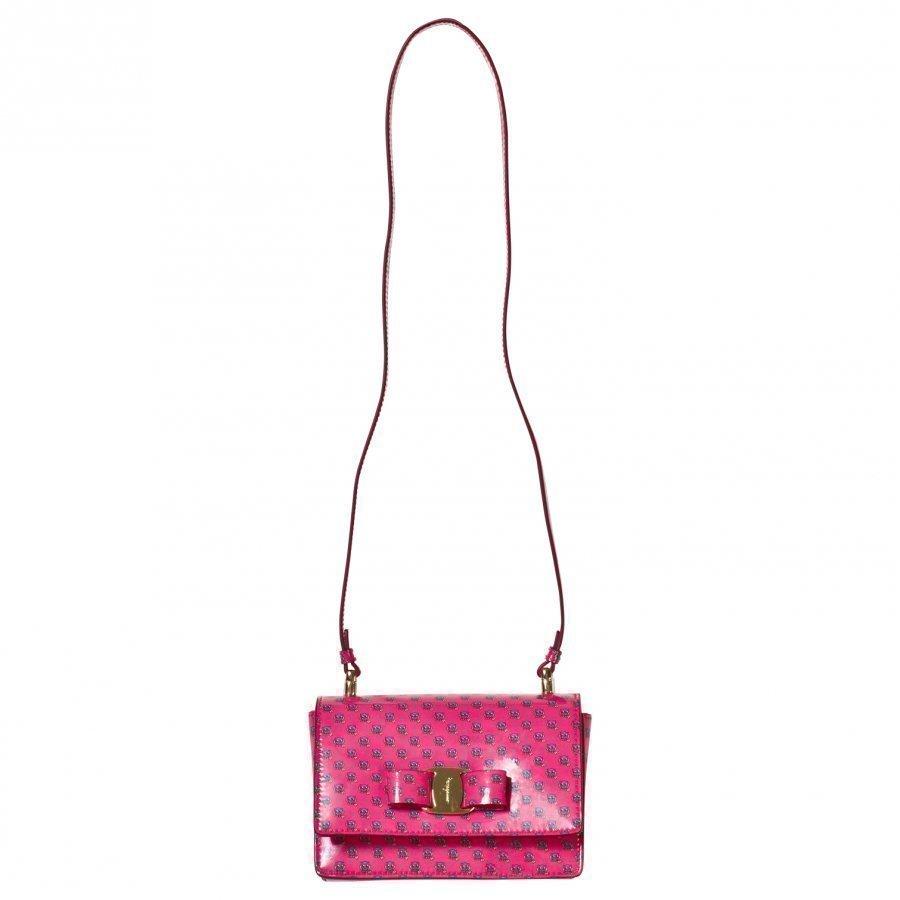 Ferragamo Pink Owl Print Ginny Bag Käsilaukku