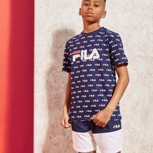 Fila All Over Print T-Shirt Laivastonsininen
