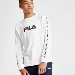 Fila Fila Hawke Long Sleeve Tape T-Paita Valkoinen