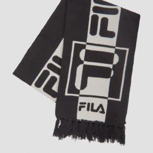 Fila Intarsia Knitted Scarf Kaulaliina Musta
