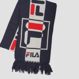 Fila Intarsia Knitted Scarf Kaulaliina Sininen