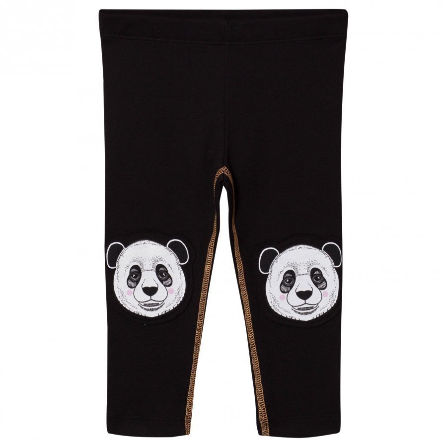 Filemon Kid Leggings Printed Knees Jet Black Legginsit