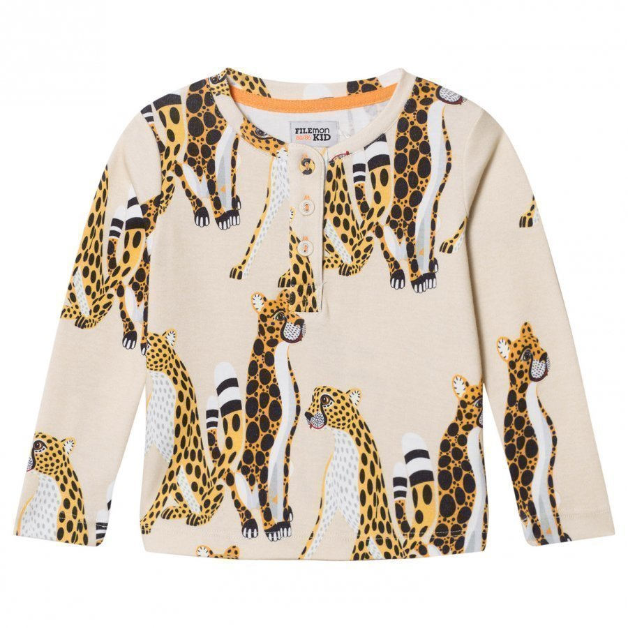 Filemon Kid Long Sleeve T-Shirt Cheetahs Angora Pitkähihainen T-Paita